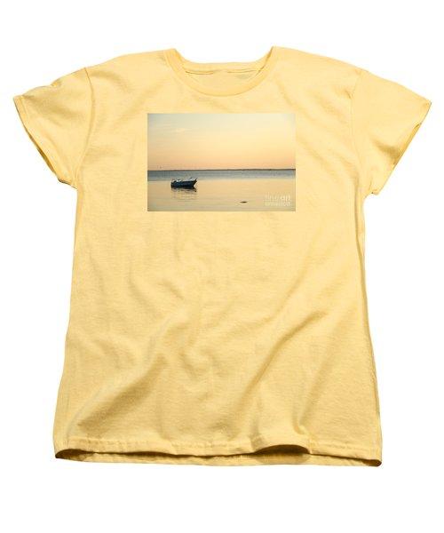 Women's T-Shirt (Standard Cut) featuring the photograph Anchored  by Kennerth and Birgitta Kullman