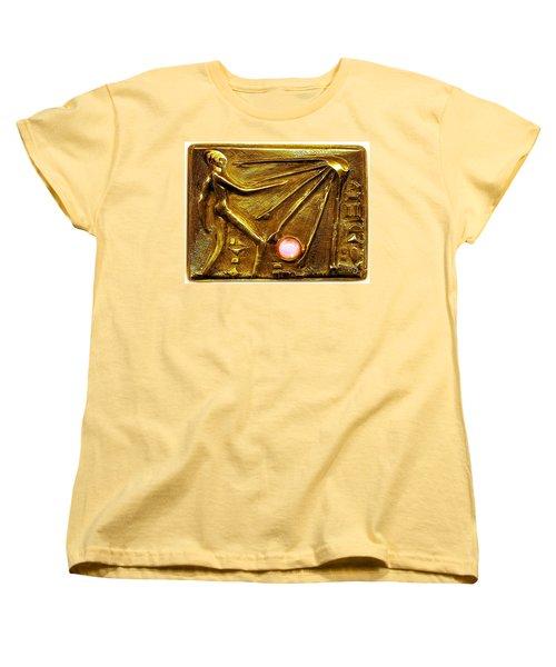 Women's T-Shirt (Standard Cut) featuring the relief Sun God Worship  by Hartmut Jager