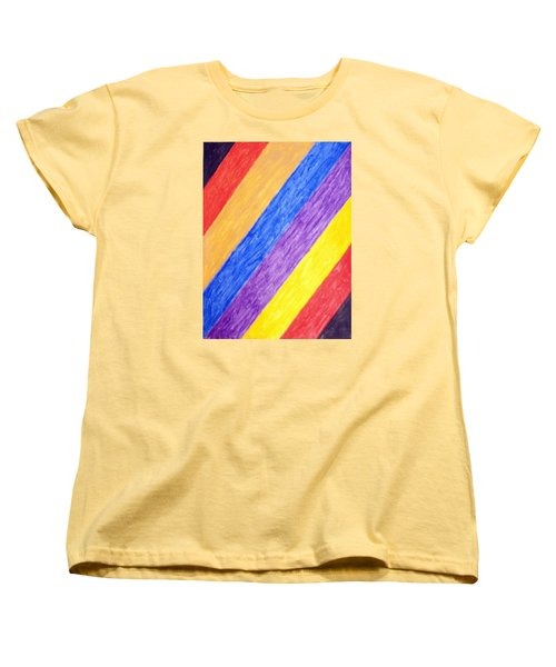 Women's T-Shirt (Standard Cut) featuring the painting Angles by Stormm Bradshaw