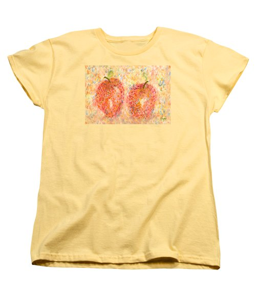 Apple Twins Women's T-Shirt (Standard Cut) by Paula Ayers