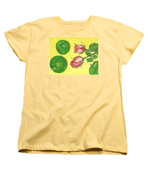 Apples And Roses Women's T-Shirt (Standard Cut)