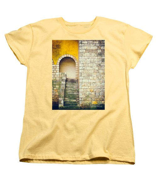 Women's T-Shirt (Standard Cut) featuring the photograph Arched Entrance by Silvia Ganora