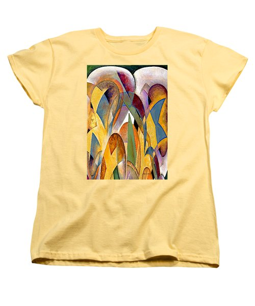 Women's T-Shirt (Standard Cut) featuring the mixed media Arches by Rafael Salazar