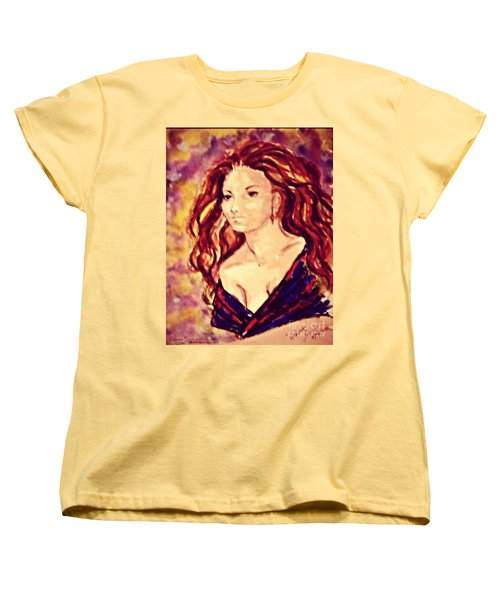 Women's T-Shirt (Standard Cut) featuring the painting Artemis Now by Leanne Seymour