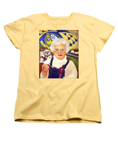 Artist At Work Portrait Of Mary Krupa Women's T-Shirt (Standard Cut) by Bernadette Krupa