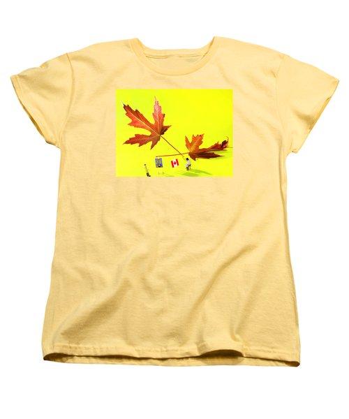 Artist De Imagination Little People Big Worlds Women's T-Shirt (Standard Cut) by Paul Ge