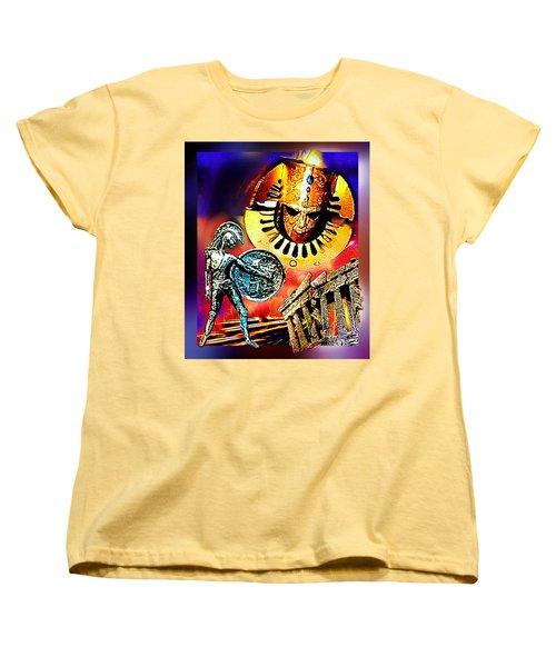 Women's T-Shirt (Standard Cut) featuring the mixed media Atlantis - The Minoan Empire Has Fallen by Hartmut Jager