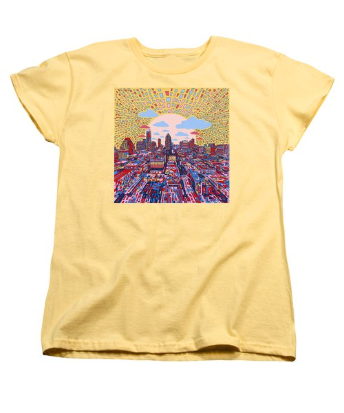 Austin Texas Abstract Panorama 2 Women's T-Shirt (Standard Cut) by Bekim Art