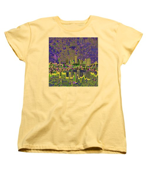 Austin Texas Skyline Women's T-Shirt (Standard Cut) by Bekim Art
