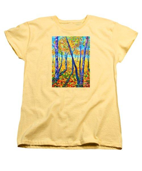 Autumn Colors Women's T-Shirt (Standard Cut) by Ana Maria Edulescu