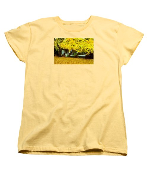 Women's T-Shirt (Standard Cut) featuring the photograph Autumn Homestead by Rodney Lee Williams