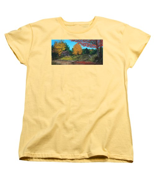 Autumns Rustic Path Women's T-Shirt (Standard Cut) by Wendy Shoults