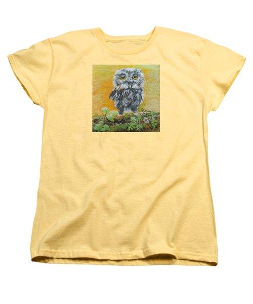 Baby Owl Women's T-Shirt (Standard Cut) by Christine Lathrop