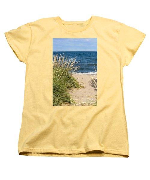 Beach Path Women's T-Shirt (Standard Cut) by Barbara McMahon