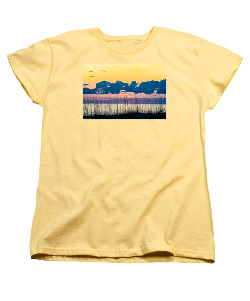 Beauty And The Birds Women's T-Shirt (Standard Cut) by Mary Ward