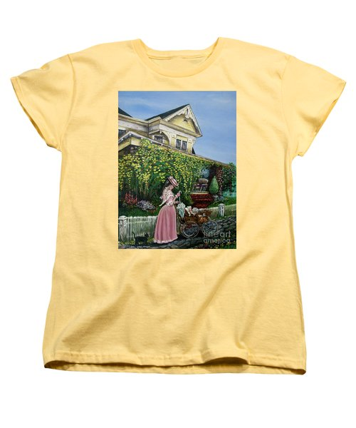 Behind The Garden Gate Women's T-Shirt (Standard Cut) by Linda Simon