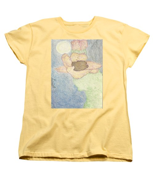 Women's T-Shirt (Standard Cut) featuring the drawing Between Dreams by Kim Pate