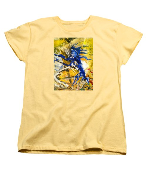 Women's T-Shirt (Standard Cut) featuring the painting Beyond Boundaries by Kicking Bear  Productions