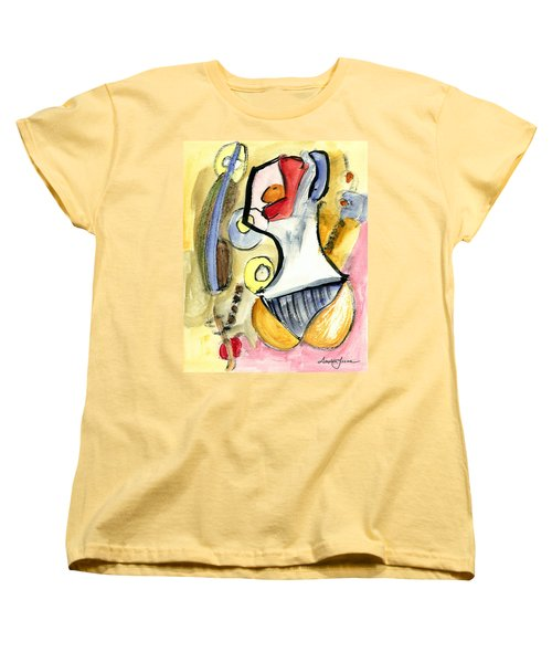 Women's T-Shirt (Standard Cut) featuring the painting Bikini Beach by Stephen Lucas