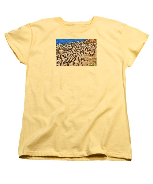 Women's T-Shirt (Standard Cut) featuring the photograph Birds Of A Feather Stick Together by Jim Carrell