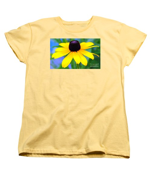 Women's T-Shirt (Standard Cut) featuring the photograph Black Eyed Susan by Judy Palkimas