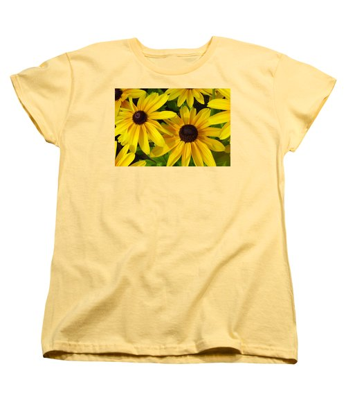 Black Eyed Susans Women's T-Shirt (Standard Cut) by Suzanne Gaff