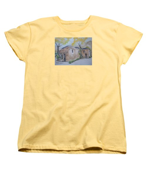 Blessed Mother's Home Women's T-Shirt (Standard Cut) by Marilyn Zalatan