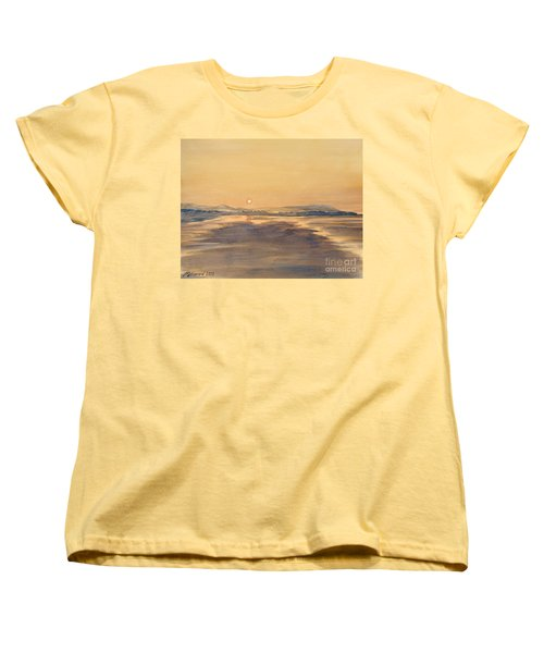 Women's T-Shirt (Standard Cut) featuring the painting Blue Anchor Sunset by Martin Howard