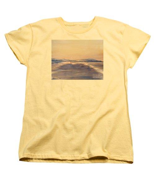 Blue Anchor Sunset Women's T-Shirt (Standard Cut) by Martin Howard
