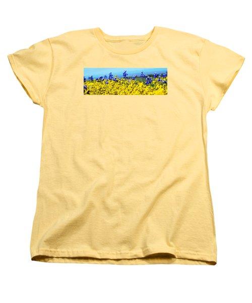 Blue And Yellow Wildflowers Women's T-Shirt (Standard Cut)