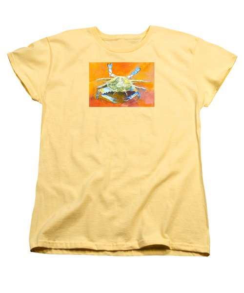 Blue Crab Women's T-Shirt (Standard Cut) by Anne Marie Brown