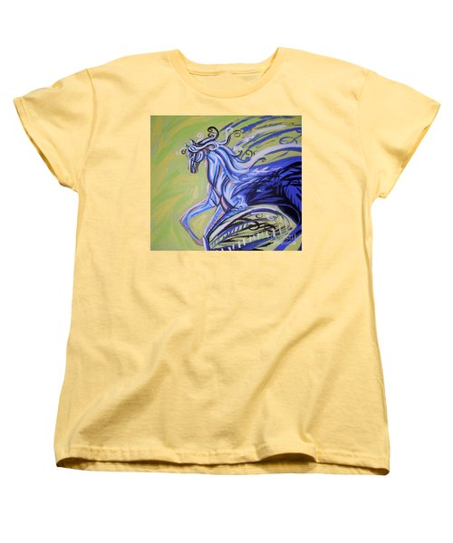 Blue Horse Women's T-Shirt (Standard Cut) by Genevieve Esson