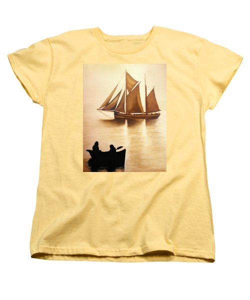 Boats In Sun Light Women's T-Shirt (Standard Cut)