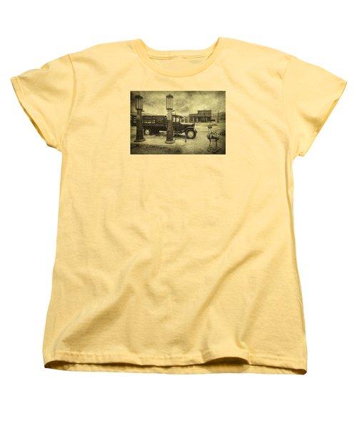 Women's T-Shirt (Standard Cut) featuring the photograph Bodie Memories by Priscilla Burgers