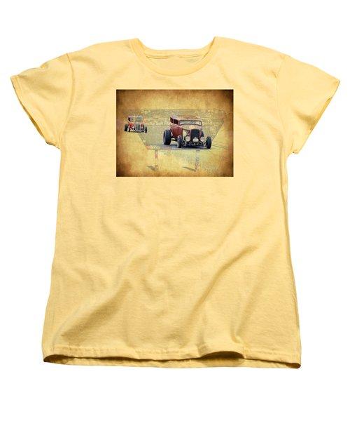 Bonneville Rodz Women's T-Shirt (Standard Cut) by Steve McKinzie