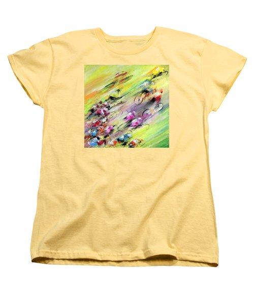 Breaking Away Women's T-Shirt (Standard Cut) by Miki De Goodaboom