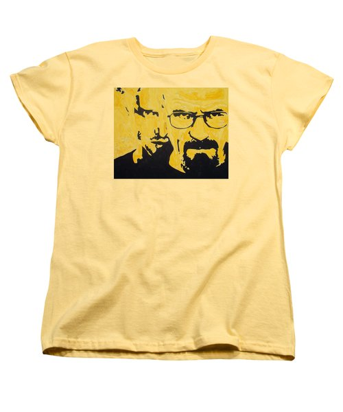 Breaking Bad Yellow Women's T-Shirt (Standard Cut) by Marisela Mungia
