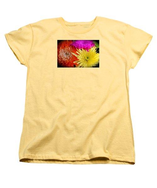 Bright Chrysanthemums Women's T-Shirt (Standard Cut) by The Art of Alice Terrill