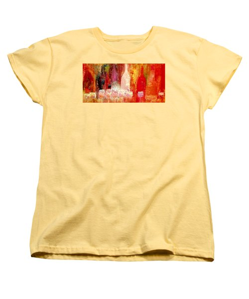 Broadway Wine Chorus  Women's T-Shirt (Standard Cut) by Lisa Kaiser