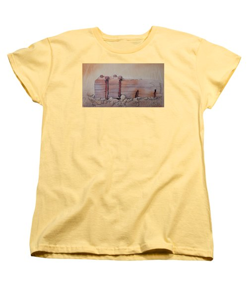 Broken Dock Seward Alaska Women's T-Shirt (Standard Cut) by Richard Faulkner
