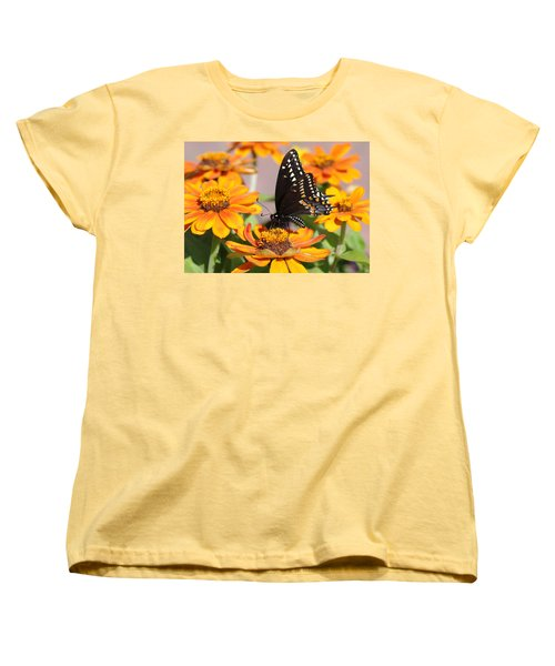 Butterfly In Living Color Women's T-Shirt (Standard Cut) by Greg Graham
