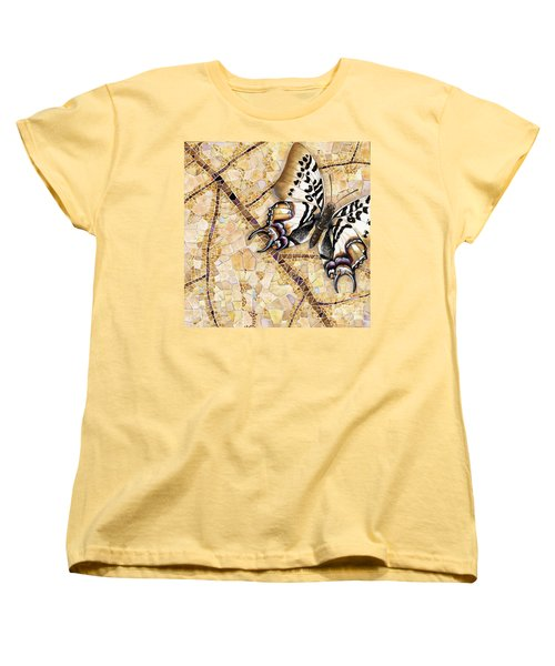 Butterfly Mosaic 01 Elena Yakubovich Women's T-Shirt (Standard Cut) by Elena Yakubovich