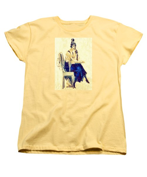 Women's T-Shirt (Standard Cut) featuring the digital art Call Me by Charmaine Zoe