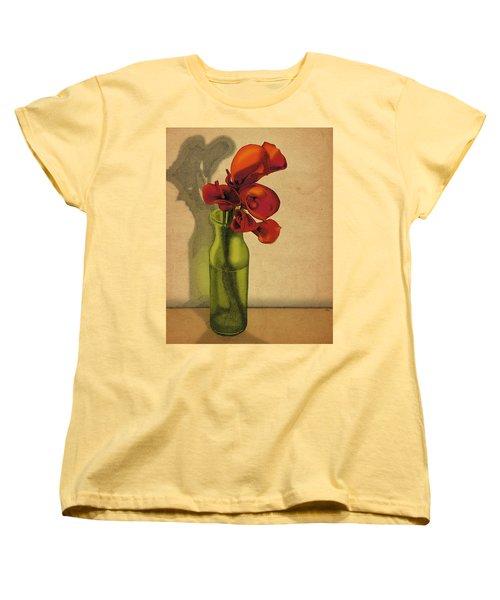 Calla Lilies In Bloom Women's T-Shirt (Standard Cut) by Meg Shearer