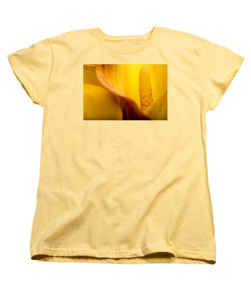 Women's T-Shirt (Standard Cut) featuring the photograph Calla Lily by Sebastian Musial