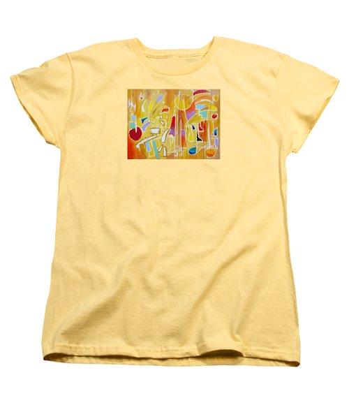 Women's T-Shirt (Standard Cut) featuring the painting Candy Shop Garnish by Jason Williamson