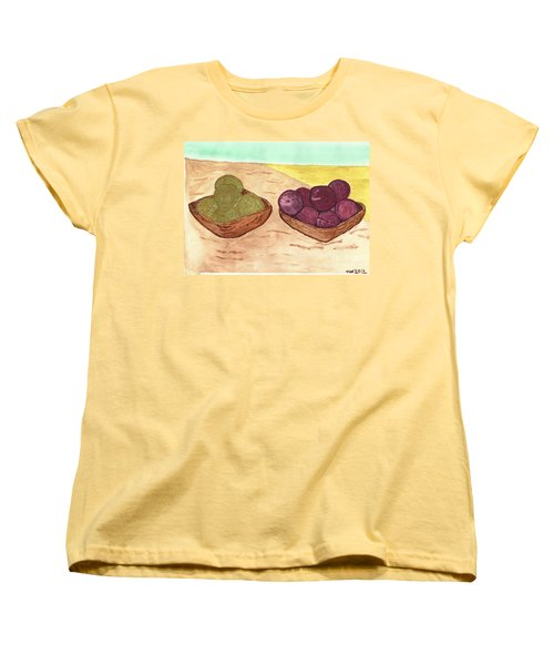 Women's T-Shirt (Standard Cut) featuring the painting Castaway Fruit by Tracey Williams