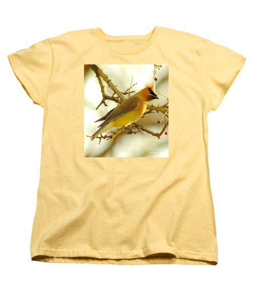 Cedar Waxwing Women's T-Shirt (Standard Cut) by Robert Frederick