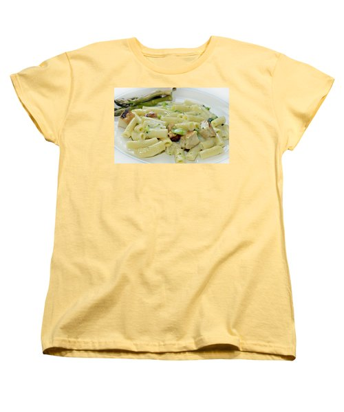 Chicken Alfredo Meal Women's T-Shirt (Standard Cut) by Susan Leggett