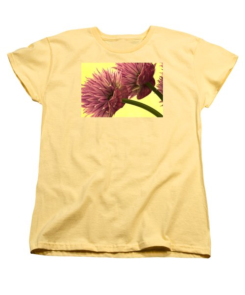 Women's T-Shirt (Standard Cut) featuring the photograph Chive Macro Beauty by Sandra Foster